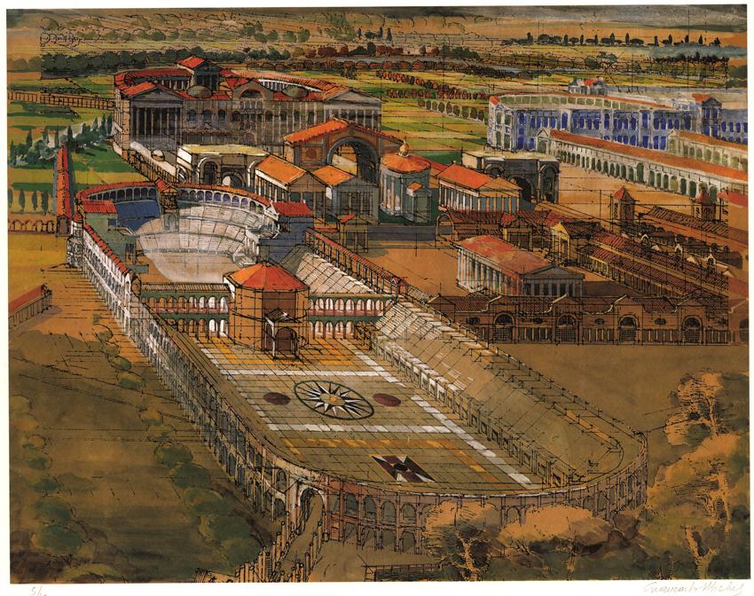 Antica Roma - Tavola dell'Arch. Giancarlo Micheli