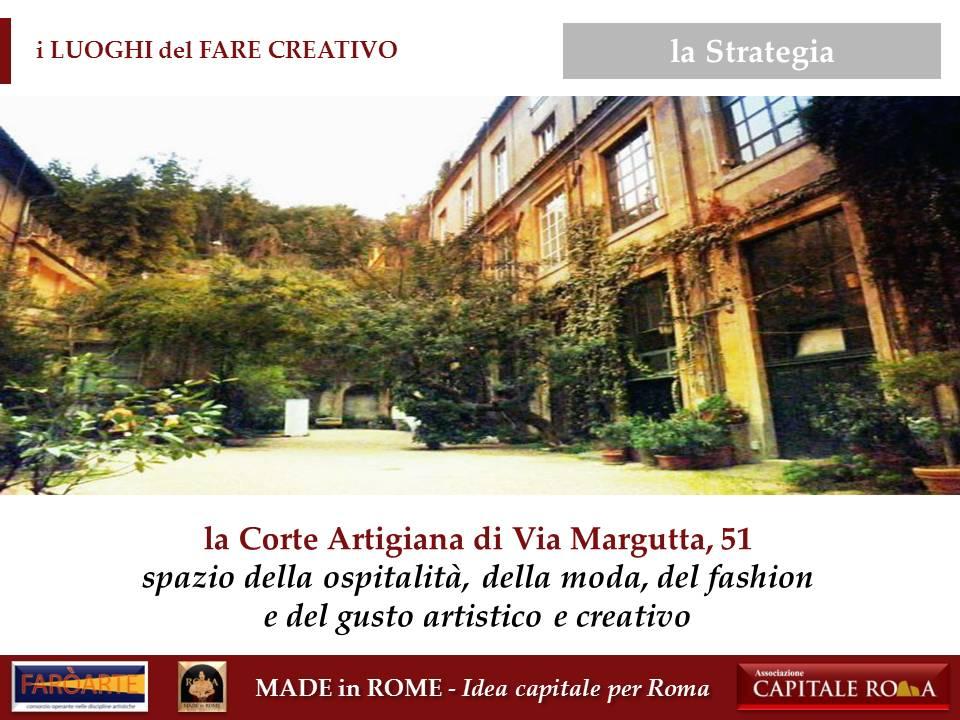 la Corte Artigiana di Via Margutta 51 per il Made in Rome
