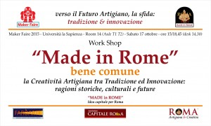 Invito MF15 - Made in Rome, bene comune