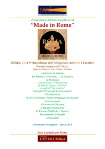 """21-04-15 Made in Rome"" Idea Capitale per Roma"