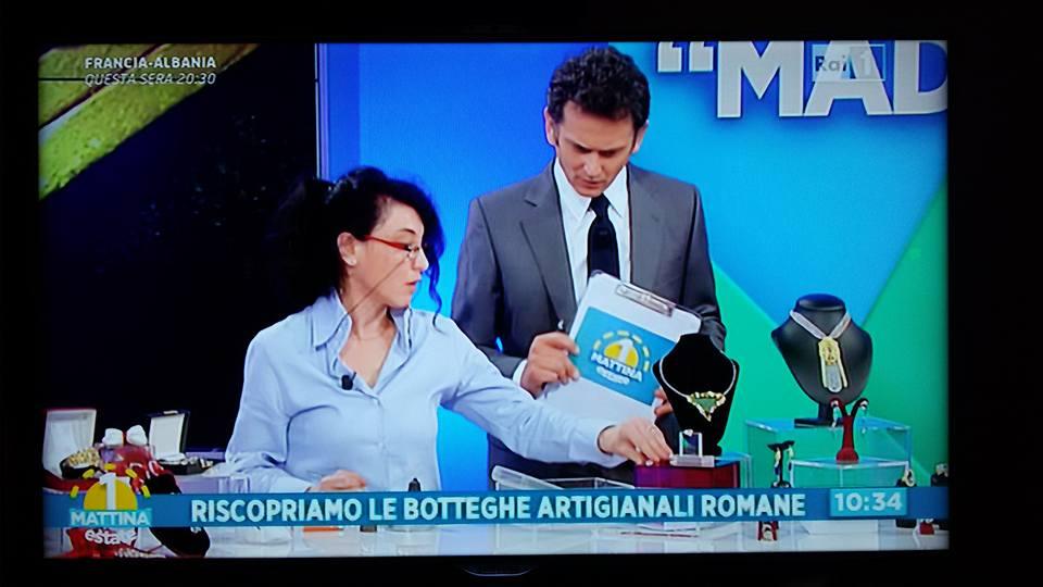 """Maestri Artigiani promotori del """"Made in Rome"""" a Rai Uno Mattina"""